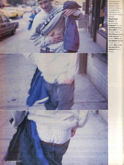 Fotos de Davide para i-D em 1996 / Reprodução
